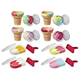 Play-Doh Ice Pops 'N Cones Freezer Plus Pack with 8 Airtight Containers Filled with Non-Toxic Compound