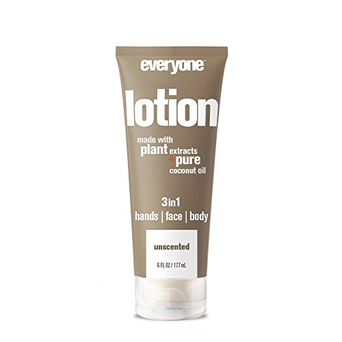 Everyone 3-in-1 Lotion for Hands/Face/Body with Natural Herbal Extracts and Essential Oils, Unscented, 6 Count