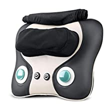 Effortsmy Soothing Shiatsu Cervical Spine Massage Pillow Multifunction Whole Body Electric Massage Cushion
