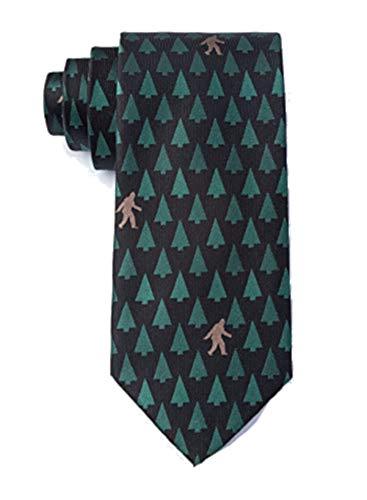 - Men's Hipster Designer Sasquatch Bigfoot Mythical Novelty Tie Necktie