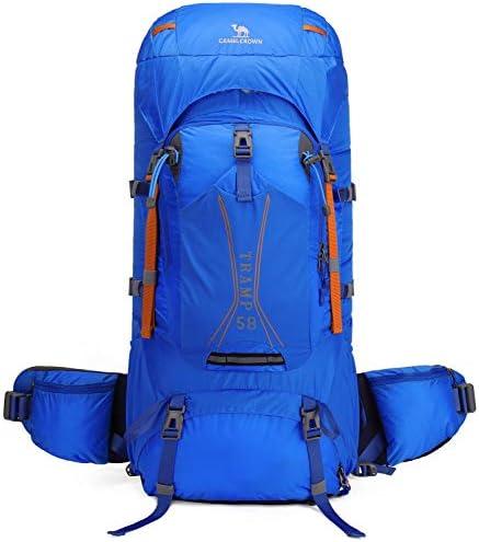CAMEL CROWN 45L 58L Hiking Backpack Large Lightweight Backpacks Internal Frame Backpacking for Picnic Ski Trave