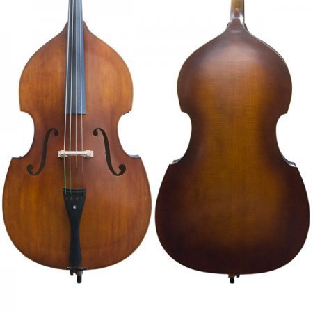 Cecilio CDB Upright Double Bass with an Adjustable Bridge, Bow, Rosin, and Gig Bag (Size 3/4, Natural-200)