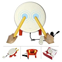 Finera Taiko Drum Compatible with Nintendo Switch Taiko no Tatsujin, Drum Controller Taiko Drum Sticks Video Games Accessories Compatible with Nintendo Switch Version