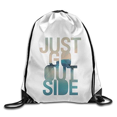 Bekey Go Outside Gym Drawstring Backpack Bags For Men & Women For Home Travel Storage Use Gym Traveling Shopping Sport Yoga - Rose Jose Santana San