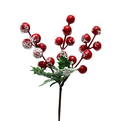 Chenway Merry Christmas 1PC Artificial Flowers Auspicious Fruits Rich Fruit Home Decor Plant Berries Christmas Tree -
