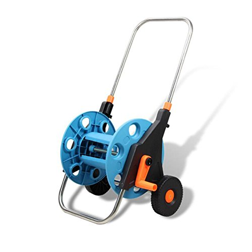 EJS Portable Garden Water Hose Reel Cart with Wheels