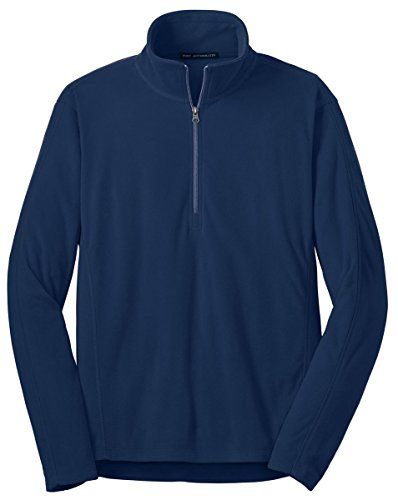 1/2 Zip Navy Fleece - Port Authority Men's Microfleece 1/2-Zip Pullover - True Navy F224 L