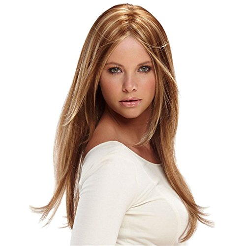[Longlove New style color Fashion Long straight women's Girl full Hair Wig cosplay (YYStraight] (Indian Costume No Sew)