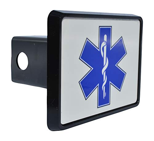 Rogue River Tactical EMT EMS Star of Life Trailer Hitch Cover Plug Gift Idea Paramedic Ambulance