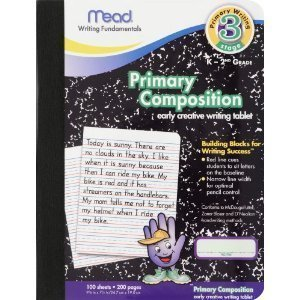 12 Pack-Of Mead Primary Composition Book, Ruled, 100 Pages (09902) ()