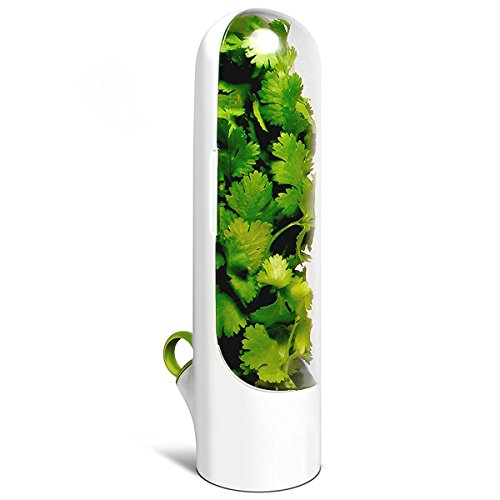 (Cobble Creek Herb Saver Pod For The Fridge Small Produce Saver Food Storage Container Vegetable Keeper Herbs)
