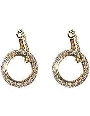 Al jubeiha japanese and Korean style long pendant cold light crystal bling earrings for girls