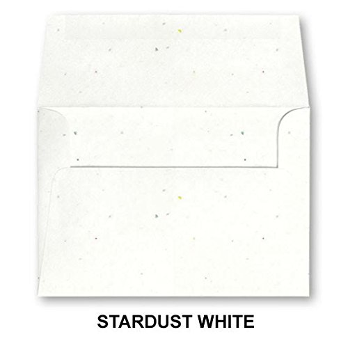 A7 Bright Color Envelopes - 5 1/4 x 7 1/4 (for 5x7 cards) - Pack of 50 Envelopes. (Stardust White)