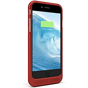 Lenmar iPhone 6s Battery Case - iPhone 6 Battery Case, Portable Charger Case, iPhone Charger Case 3000mAh [MFI] Charging Case, RED