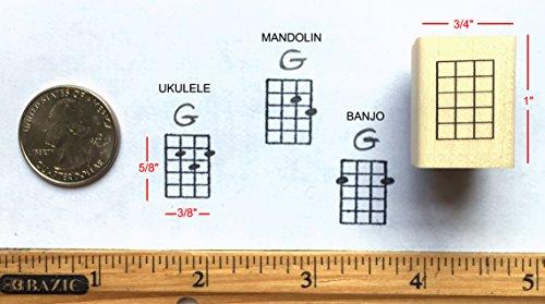 - Stampola Mini Ukulele, Mandolin, Banjo Chord Stamp
