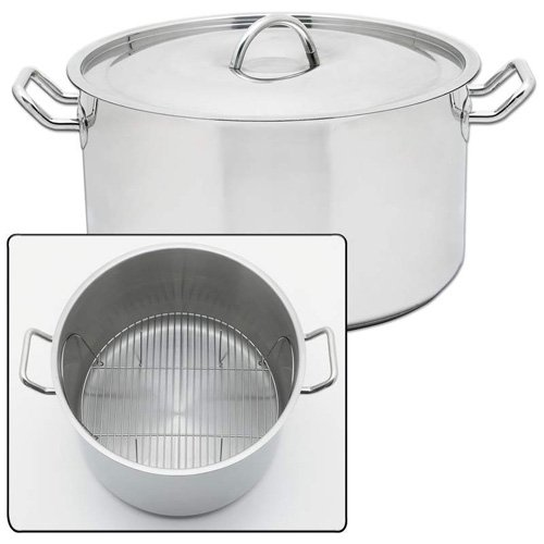 Precise Heat 42qt Waterless Stockpot Surgical Stainless Steel Construction Riveted Handles
