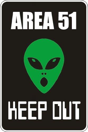 Area 51 Halloween (StickerPirate Area 51 Keep Out 8