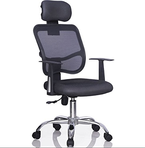 High Back Black Ergonomic Executive Mesh Chair with Headrest Office Back Computer Task Desk Adjustable Chair Seat Home Office Gaming Adjustable with 360 Degree Swivel Wheel