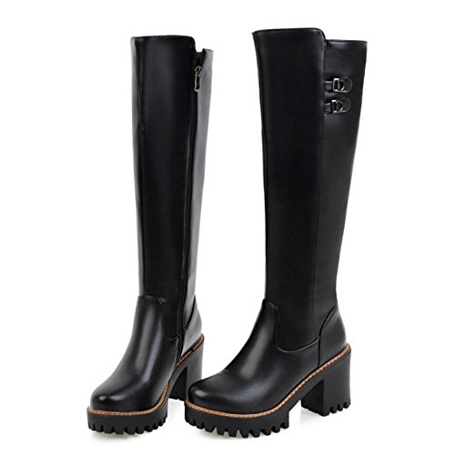 Black Women Boots Fashion KemeKiss Zipper HpqYfO8