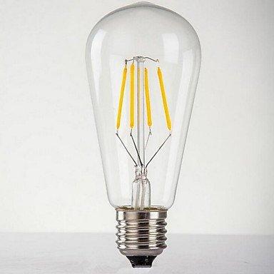 ghghui 6 W Retro Edison Bombilla E27 cristal creativa ...