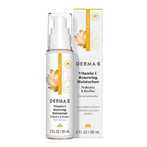 DERMA E Vitamin C Renewing Moisturizer with Probiotics and Rooibos, 2 Fl (Derma Oil Free Moisturizer)