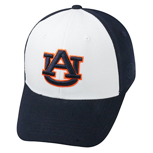 Top of the World NCAA-Premium Collection Two Tone-One-Fit-Memory Fit-Hat Cap- Auburn Tigers (Auburn Tigers Wool)