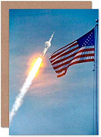 Apollo 11 Astronaut Aldrin Armstrong NASA 50th Anniversary Moon Landing All Occasions Various Assorted Blank Greeting Cards with Envelopes Pack of 6 Lune