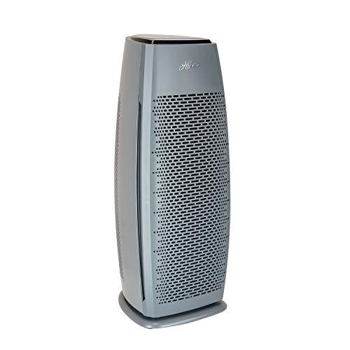 Hunter HP600 Tall Tower Air Purifier Features Energy Star Certification True HEPA Filter, Multiple Fan Speeds, Soft Touch Digital Control Panel, Sleep Mode, Timer, Accent Light, Graphite