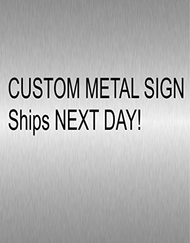 Custom Rectangular Metal Sign - SHIPS NEXT DAY by The Metal Word