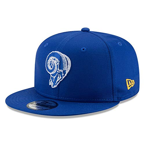 New Era Los Angeles Rams Hat NFL Blue Historic Logo 9FIFTY Snapback Adjustable Cap Adult One Size (Rams Hat New Era)