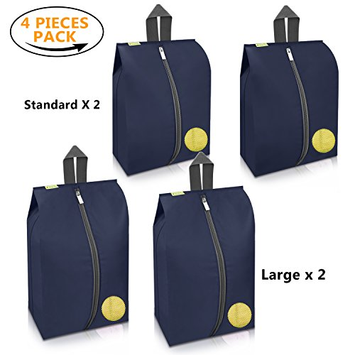 20a93f1bac Portable Shoes Bags 4 Pack – Cheaper Best - Durable Versatile Organizers  Sleeves for Tough Zipper
