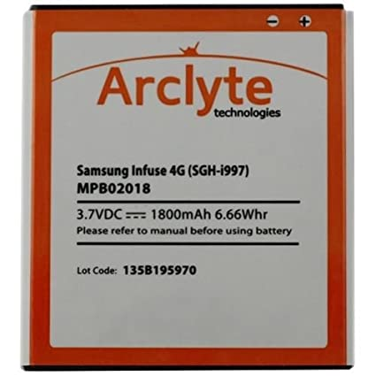 amazon com samsung battery for infuse 4g infuse sgh i997 b 7965 rh amazon com Samsung Infuse Samsung I997