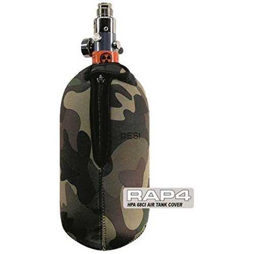 Real Action Paintball Tank Cover - Soft Back - Woodland Camo - -