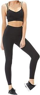 Abbigliamento Yoga Slim Europeo Ed Americano, Tinta Unita Alta Elasticizzata, Forcella a Due Pezzi con Tuta da Ginnastica per Il Fitness