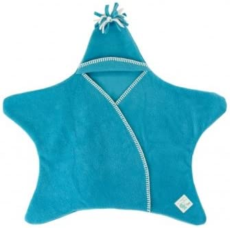 Tuppence and Crumble Star Baby Wrap Turquoise Size Medium