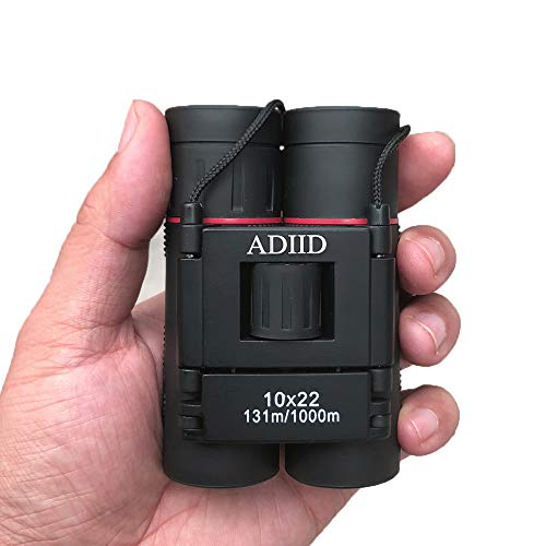 ADIID 10×22 Small Compact Lightweight Binoculars for Adults Kids Bird Watching Traveling Sightseeing.Mini Pocket Folding Binoculars for Concert Theater Opera