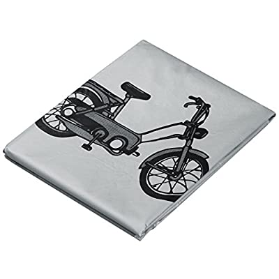 TRIXES Motorcycle Bicycle Outdoor Weather Resistant Bike Cover Grey