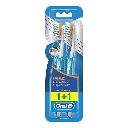 Oral-B Pro-Expert Pro-Flex Manual Toothbrushes Soft Pack of 2–Set of 4