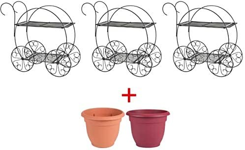 Set of 3 CobraCo Two Tiered Garden Cart FC100