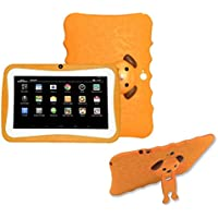 Tablet , Ikevan 7 inch Quad Core HD Tablet for Kids Android 4.4 KitKat Dual Camera WiFi Bluetooth (Orange)