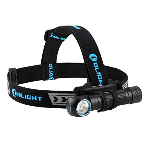 OLIGHT Bundle H2R Cree LED Up to 2300 lumens Rechargeable Headlamp Flashlight Customized Battery - Magnetic USB Charging Cable- Headband - Clip and Mount Patch (Neutral White) by OLIGHT (Image #5)