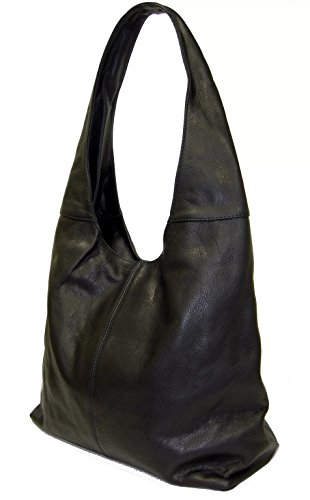 modèle Shopper Noir à Epaule Sac Sauvage en in vrai SUPERFLYBAGS cuir Katy Italy made a4q8fx