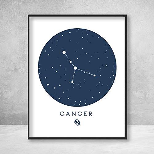 Cancer Zodiac Sign Stars Horoscope Handmade Wall Art Decor