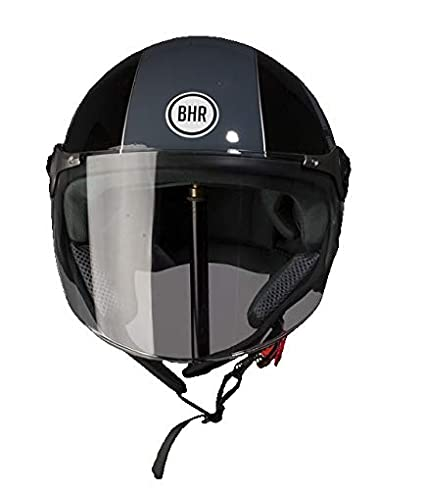 BHR Helm Demi-Jet Modell 710 55//56 Schwarz