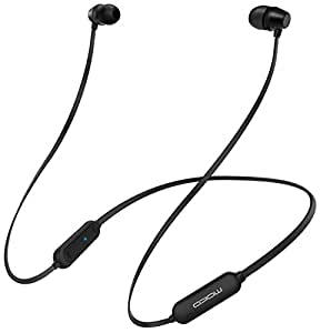 MoKo Bluetooth Headphones, Wireless Neckband Headset w/Mic & Siri IPX5 Waterproof HD Stereo Sweatproof in Ear Earbuds 9 Hour Battery Hands-Free Calls Sports Earphones, Black