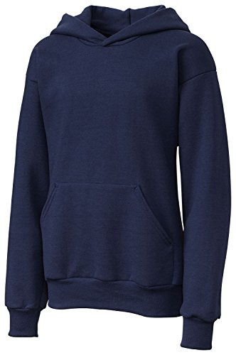Clique Big Girls Comfortable Fleece Pullover Hoodie, Navy, Small