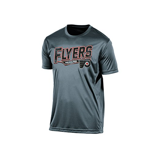 NHL Philadelphia Flyers Men's Twisted Tee, X-Large, Gray