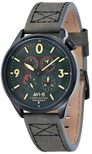 (AVI-8 Mens Lancaster Bomber Watch - Green/Green)