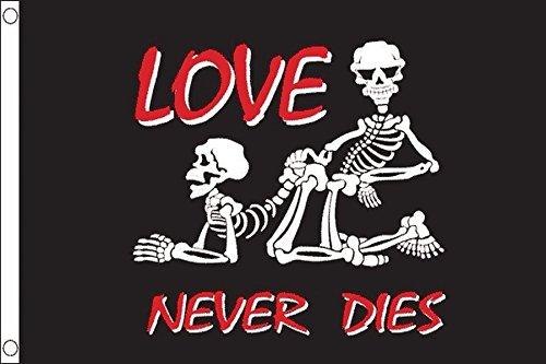 Die Pirate - AZ FLAG Pirate Love Never Dies Flag 3' x 5' - Pirates Flags 90 x 150 cm - Banner 3x5 ft