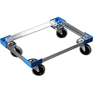 Carlisle Cateraide PC300N End-Loading Food Pan Carrier Dolly, Aluminum